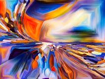 Koloru abstrakcjonistyczny wzór ilustracja wektor