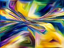 Koloru abstrakcjonistyczny wzór Zdjęcia Royalty Free