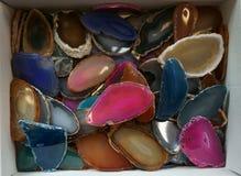koloru agata kolekcja Fotografia Stock
