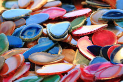 Koloru agata kopaliny kolekcja Fotografia Stock
