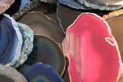 Koloru agata kopaliny kolekcja Obrazy Royalty Free