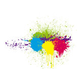 koloru atramentu splatter Fotografia Royalty Free