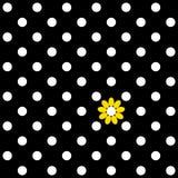Koloru bezszwowy wzór z polka kwiatem i kropką ilustracji
