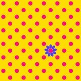Koloru bezszwowy wzór z polka kwiatem i kropką ilustracja wektor