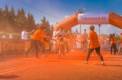 Koloru bieg Bucharest Zdjęcia Royalty Free