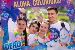 Koloru bieg Tropicolor Światowa wycieczka turysyczna 2016 Zdjęcia Royalty Free