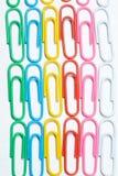 Koloru biura klamerki Biurowy tło fotografia royalty free