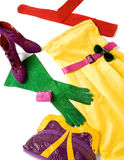 Koloru bloku wciąż życia mody skład Obraz Royalty Free