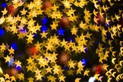 Koloru Bokeh gwiazdy tło Fotografia Royalty Free