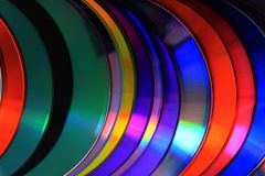 Koloru cd i DVD Zdjęcie Stock