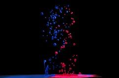 Koloru ciecz w wodzie Fotografia Royalty Free