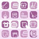 Koloru cleaning i płuczkowe ikony Zdjęcie Royalty Free