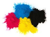 Koloru copier toner zdjęcia royalty free