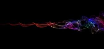 koloru czarny dym Obrazy Royalty Free