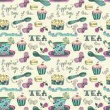 Koloru czasu herbaciany wzór Obrazy Royalty Free