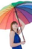 koloru damy trwanie parasol Zdjęcie Stock