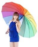 koloru damy trwanie parasolowi potomstwa Obraz Royalty Free
