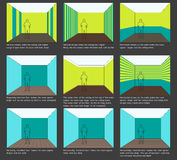 koloru dekoraci domu planu lampasy Zdjęcie Stock