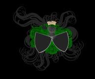 koloru dekoracyjnej heraldyki ozdobne osłony Zdjęcie Royalty Free
