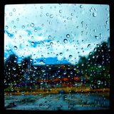 Koloru deszcz Obrazy Royalty Free