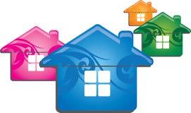 Koloru dom Obrazy Stock