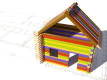 koloru dom royalty ilustracja