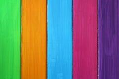 Koloru drewniany tło Zdjęcie Royalty Free