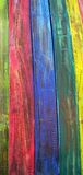Koloru drewno Fotografia Royalty Free