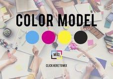 Koloru Drukowego atramentu koloru modela CMYK pojęcie Obraz Stock