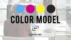 Koloru Drukowego atramentu koloru modela CMYK pojęcie Obrazy Royalty Free