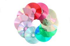 koloru dvd odizolowywający obrazy royalty free