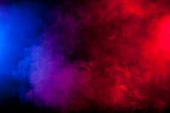 Koloru dym na czarnym tle Zdjęcie Stock
