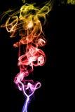 Koloru dym na czarnym tle obraz royalty free