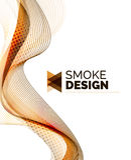 Koloru dymu fala na bielu ilustracja wektor