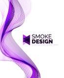 Koloru dymu fala na bielu ilustracji