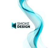 Koloru dymu fala na bielu Obrazy Stock