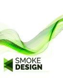 Koloru dymu fala na bielu Zdjęcia Stock