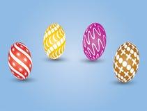 koloru Easter jajka ustawiają Zdjęcia Stock