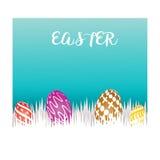 koloru Easter jajka ustawiają Obraz Royalty Free