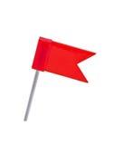 koloru flaga odizolowywający wałkowy czerwony biel Zdjęcia Stock