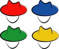 koloru inkasowy kapelusz ilustracja wektor