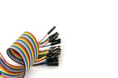 Koloru kabla spirala na białym tle zdjęcie stock