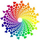 Koloru koło z okręgami i trójbokami Fotografia Royalty Free