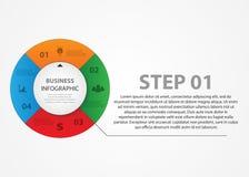 Koloru koło z teksta wyborem Biznesowy Infographics Obraz Stock