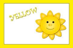 koloru kolor żółty Obrazy Stock