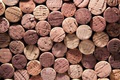 koloru korków czerwony urozmaicony wino Fotografia Stock