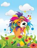 Koloru lwa abstrakta wektor Zdjęcia Stock