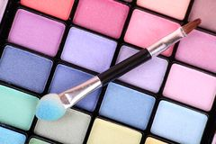 koloru makeup paleta fotografia stock