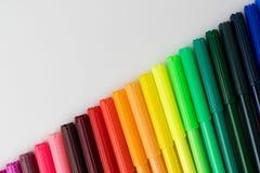 Koloru markiera koloru pióra set Obrazy Stock