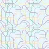 Koloru metra kolejowego transportu plan na błękitnym tle Abstrac Zdjęcia Royalty Free